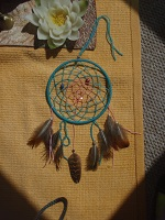 blue and pink dreamcatcher